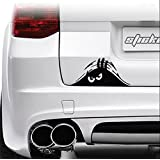 1 Pc Likely Modern Funny Peeking Monster Car Sticker Auto Decals Walls Graphic Vinyl Emblem Colors Black