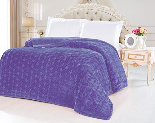 Fancy Collection Queen King Size Embossed Blanket