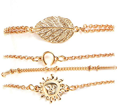 Simple 4-Piece Set Sun Leaf Br...