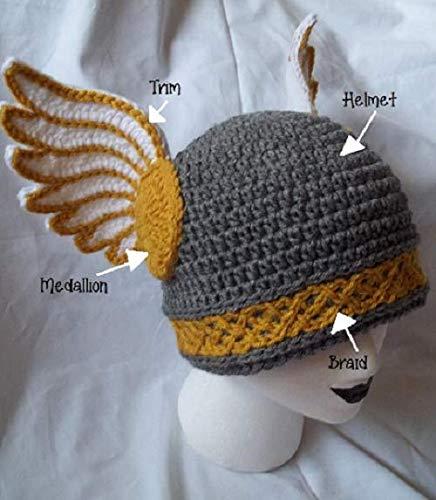 83a24368 Amazon.com: Valkyrie Beanie - Crochet Knit Winged Helmet Beanie ...