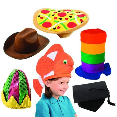 ''Just for Fun'' Hat Set for Dress Up and Pretend Play 6 pc. Set