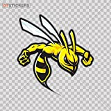 Hobby Vinyl Decal Wasp Hornet Stinger Attack hobby decor (5 X 4,69 In. ) Fully Waterproof Printed vinyl sticker