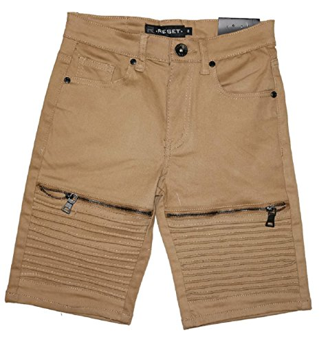Reset FGR Collections Big Boys 5 Pockets Bermuda Shorts, Boys 7 to 14 Years (8, Beige)