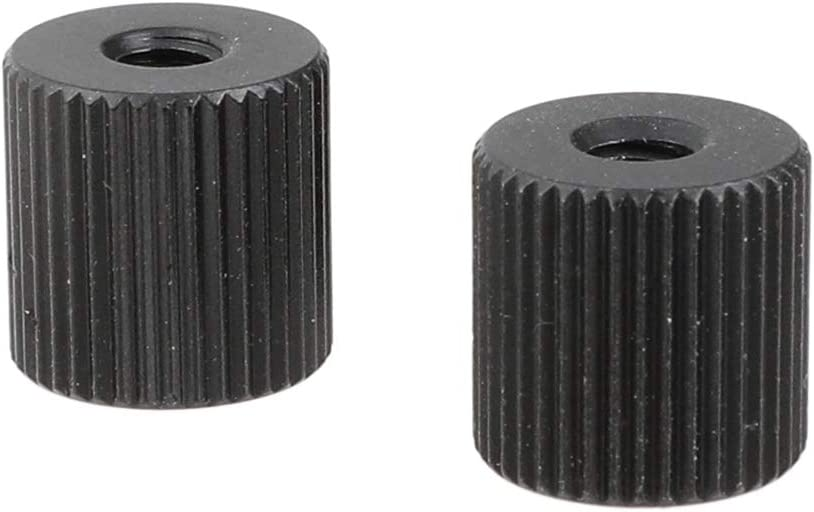 CAMVATE Double-Ended 1//4-20 Female Thread Screw Nut for Extension Arm 2 Pieces