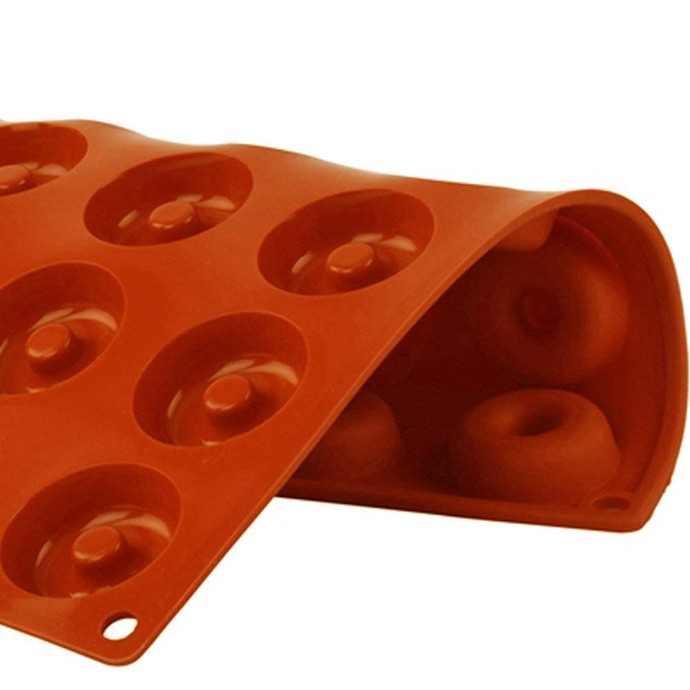 PERNY 18-Cavity Mini Donut Pan, 1.5 Inch Silicone Donut Pan, 2 Pack by PERNY (Image #7)