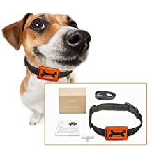 FONPOO No Bark Collar FP-668S, Humane Bark Control Collar, Rechargeable Training Collar For Small Medium And Large Dogs, Safe Bark Deterrent, No Pain or Harm, Beep, Vibration and Sensitivity Anti Bark Reflective