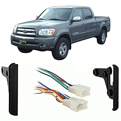 amazon com: fits toyota tundra double cab 2004-2005 ddin car harness radio  dash kit: car electronics