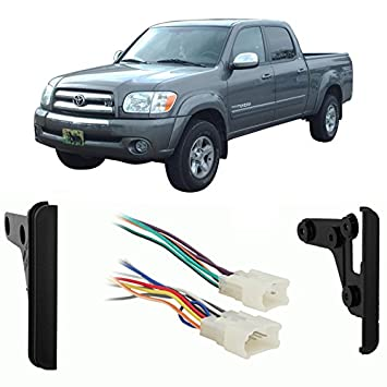 51t9lKUJ1NL._SY355_ amazon com fits toyota tundra double cab 2004 2005 ddin car wire harness for 2004 toyota tundra at reclaimingppi.co