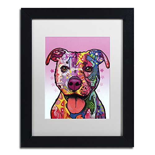 Cherish The Pitbull by Dean Russo, White Matte, Black Frame 11x14-Inch