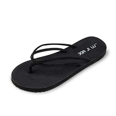 569c91b41ea0 Women s Thong Flip Flops Rubber Non-Slip Flats Sandal Great for Beach or  Casual Wear