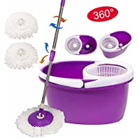Magic Spin Mop Microfiber Spining with Bucket 2 Heads 360° Rotating Easy Floor Mop