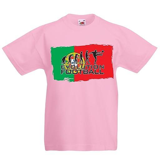 351cbfa7201 Amazon.com: Kids Boys/Girls T-Shirt The Portugal National Football Team  Evolution, 2018 World Cup Russia: Clothing