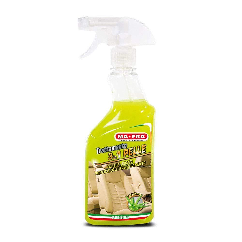 H.T. MAFRA 3in1 Trattamento Pelle Spray Lucida rinnova deterge Protegge Interni Auto Ma-fra
