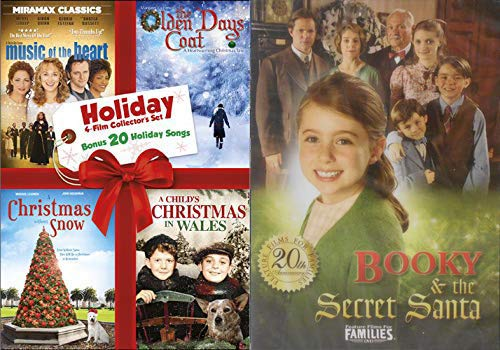 Family Fun Holiday's Feature Film DVD Bundle - Music Of The Heart/ The Olden Days Coat/ A Christmas Without Snow/ A Child's Christmas In Wales & Booky & The Secret - Coat Nutcracker