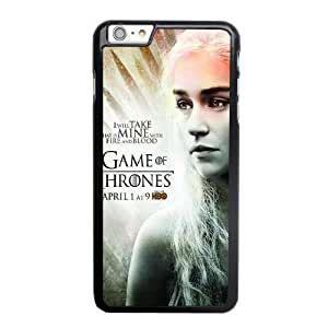 Custom made Case,Daenerys - Game of Thrones PC Plastic Cell Phone Case for iPhone 6 6S 4.7 inch,Black Case With Screen Protector (Tempered Glass) Free S-6637399