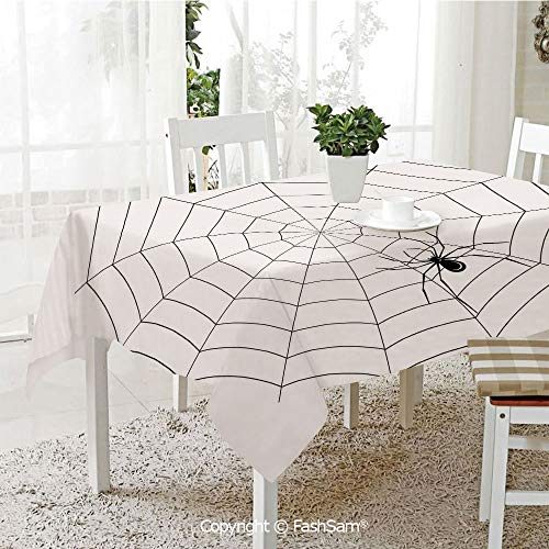 AmaUncle Premium Waterproof Table Cover Toxic Poisonous Insect Thread Crawly Malicious Bug Halloween Character Design Decorative Kitchen Rectangular Table Cover (W60 xL104) -