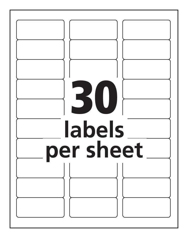 Amazon avery easy peel clear address labels for laser amazon avery easy peel clear address labels for laser printers 1 x 2625 2 pk 15660 home kitchen saigontimesfo