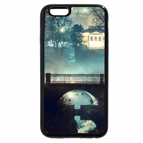 iPhone 6S / iPhone 6 Case (Black) bridge in a park backlit at night