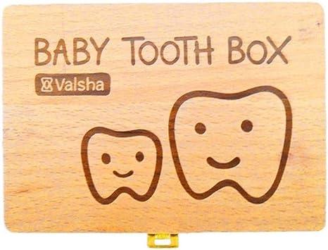 Caja de madera para bebés Caja de dientes para guardar dientes ...
