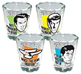 ICUP Star Trek Quotes Shotglass (4 Pack), Clear