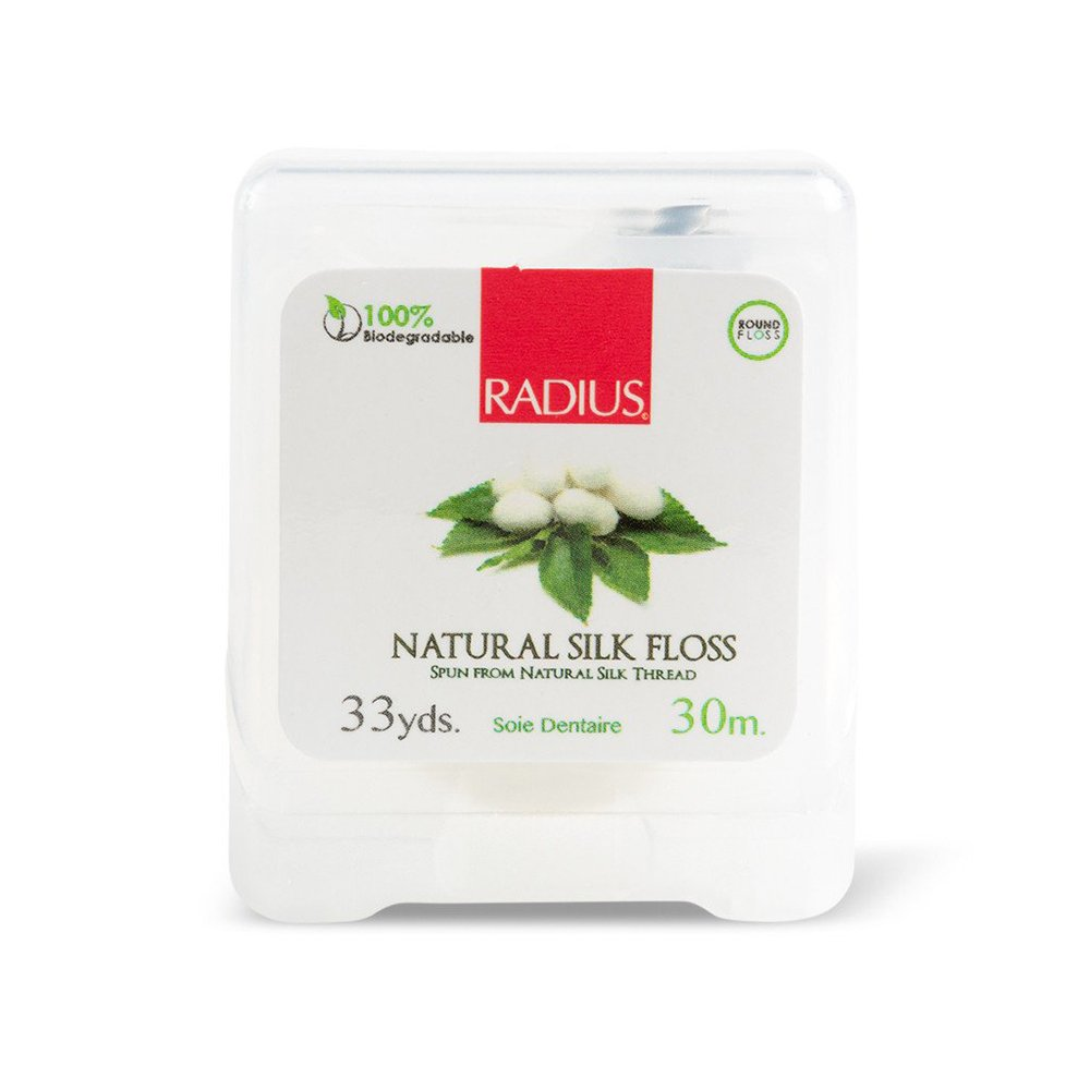 RADIUS - Natural Biodegradable Silk Floss, Soft and Smooth for Total Tooth and Gum Protection (33 Yrd)