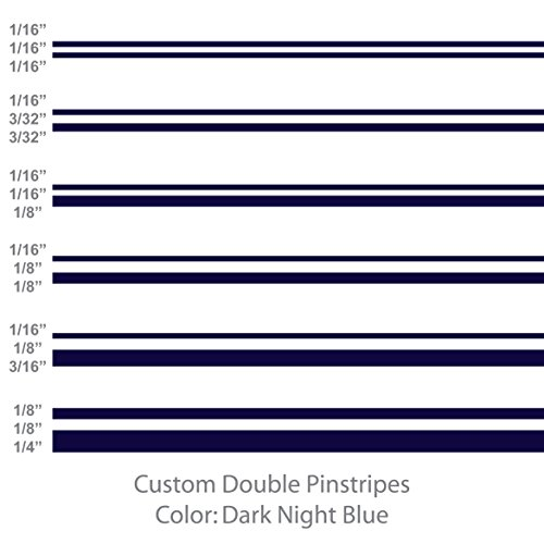 Dark Blue Custom Striping Tape - Double Pinstripes (Dark Night Blue) 1/8
