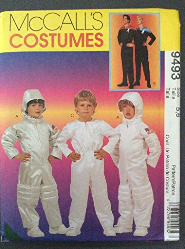 Astronaut Costume Pattern (McCall's Costume size 5, 6 Spacesuit and Star Trek 9493)