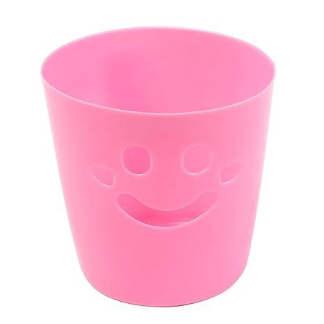 Balcón Baño Cara sonriente rosa plástico cepillo de dientes soporte contenedor