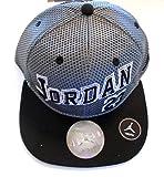 NIKE Jordan Elite Jersey Mesh Varsity Snapback Hat Court Cap (Wolf Grey/Black) YOUTH 8-20
