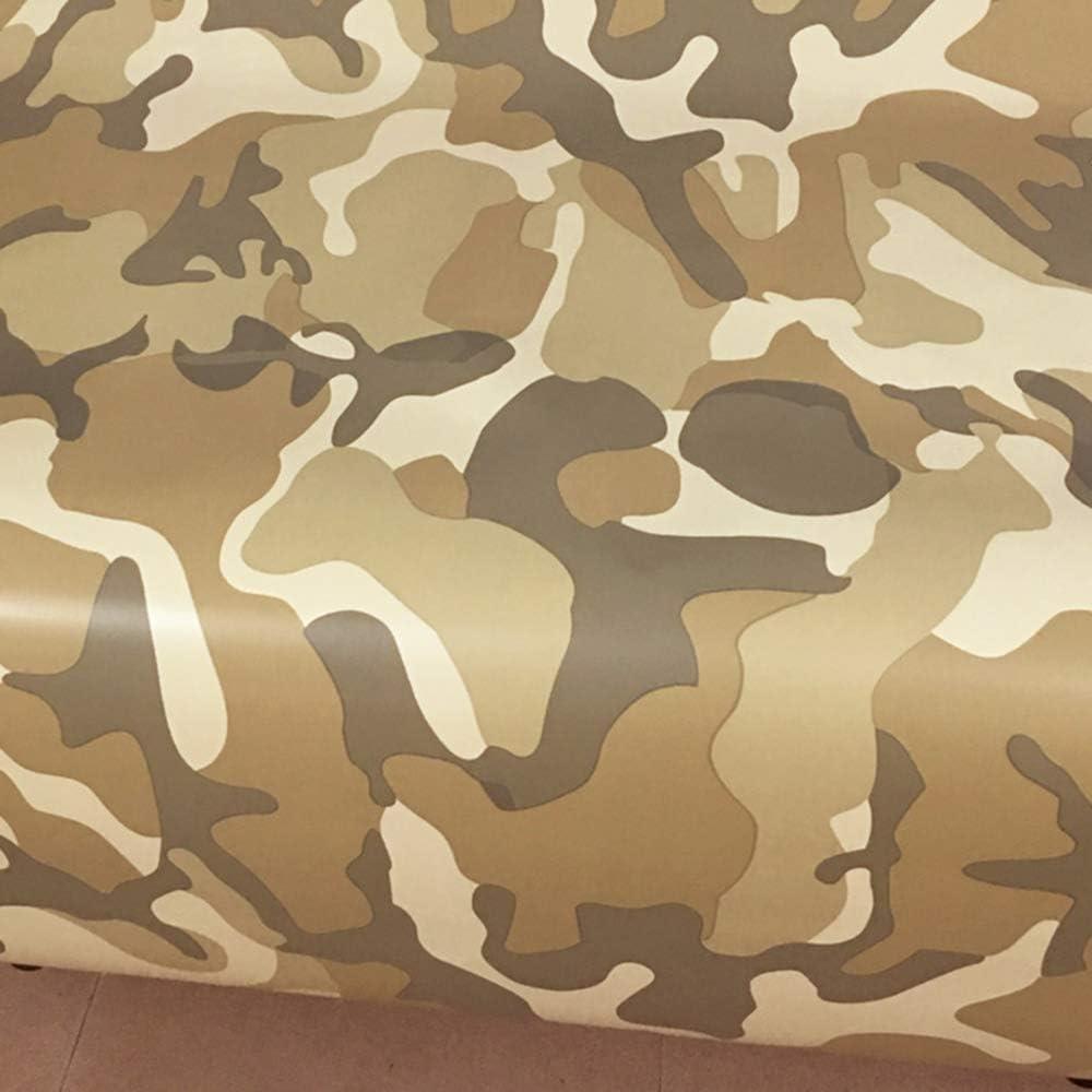 Lecimo Film Adh/ésif de Vinyle de Camouflage Noir Blanc Gris Camo Military Moto Scooter Autocollant de Changement de Couleur Wrap 2#