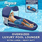 Aqua Oversized Deluxe Lounge, Heavy Duty, X-Large, Inflatable Pool Float with UPF 50