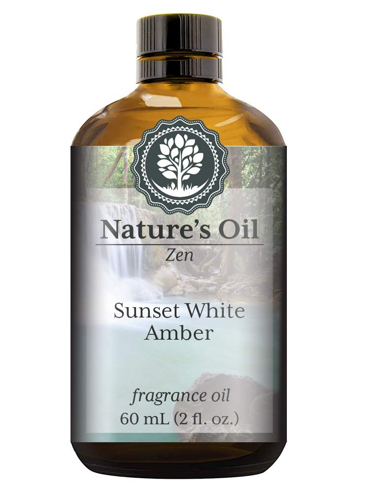 Sunset White Amber Fragrance Oil (60ml) For Diffusers, Soap Making, Candles, Lotion, Home Scents, Linen Spray, Bath Bombs, Slime