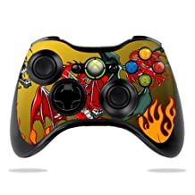 Protective Vinyl Skin Decal Cover for Microsoft Xbox 360 Controller wrap sticker skins Dragon Breath