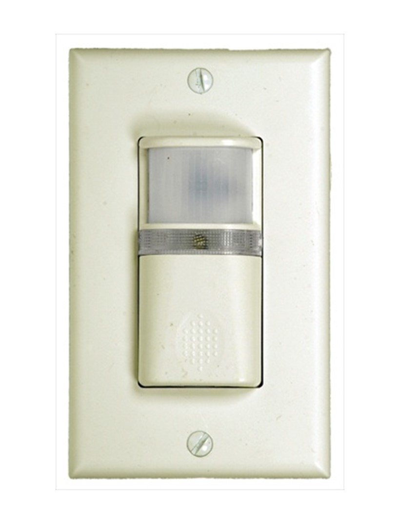 Westgate YM2108-T-W Vacancy and Occupancy Sensor Wall Switch, 3 Way, Adjustable Time and Light, White