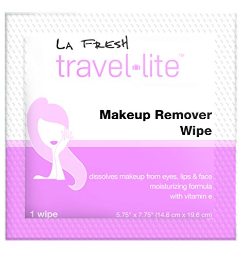 La Fresh Makeup Remover Cleansing Travel Wipes Natural, Biodegradable, Waterproof, Facial Towelettes With Vitamin E Individually Wrapped & Sealed Packets (50 Count) by La Fresh (Image #3)