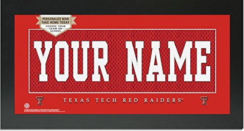Texas Tech Red Raiders NCAA Custom Jersey Nameplate Framed Sign