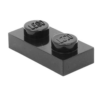 N70 LEGO® 4 x 35480 Platte 1 x 2 schwarz mit 2 offene Noppen 6210270