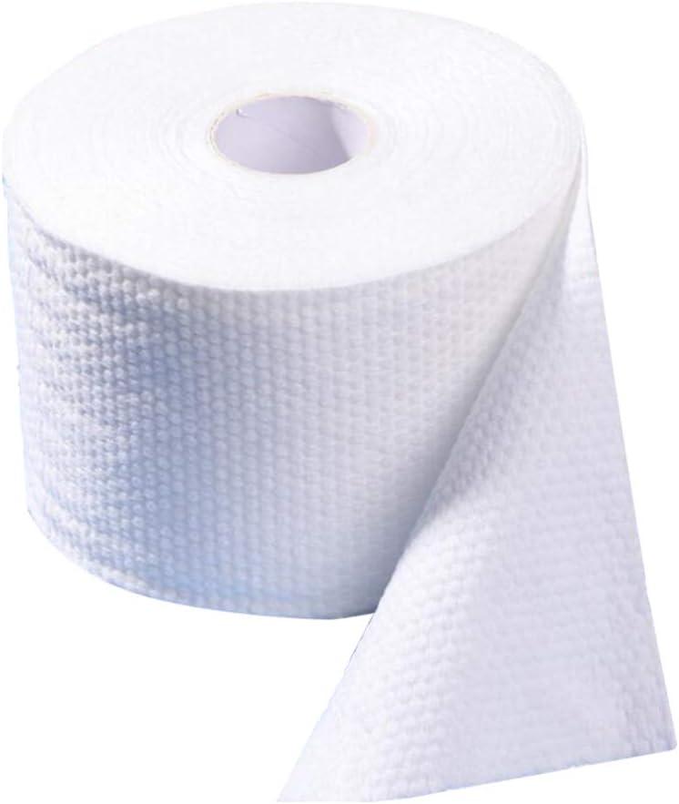 Minkissy Einweg-Gesichtstuch Einweg-Seidenpapier zum Anfassen mit Beutel-Gesichtstuch Einweg-Gesichtstuch aus Baumwolle