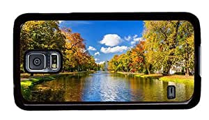 Hipster unique Samsung Galaxy S5 Case river park autumn PC Black for Samsung S5