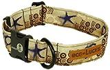 Dublin Dog Co Eco Lucks Hampton Dog Collar, Shellscape, 10 by 15-Inch, Small