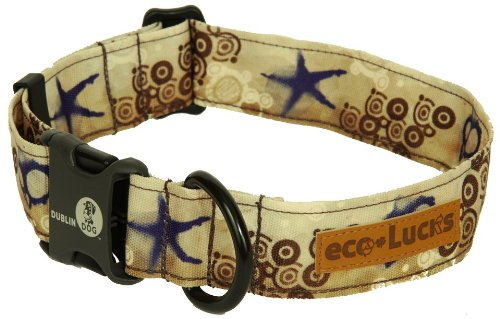 Dublin Dog Co Eco Lucks Hampton Dog Collar, Shellscape, 15 by 24-Inch, Large