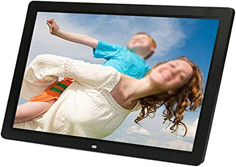 HANXIAODONG 17 Inch Digital Photo Frame 1440900 Pixels High Resolution 1080P HD Video Playback USB and SD Card Slots,Auto On//Off Timer Color : Black, Size : 17 inch