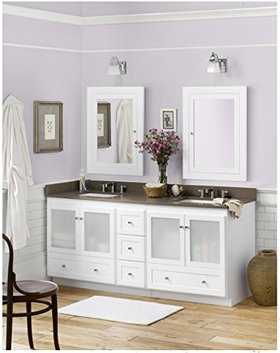 Distressed Nickel Fairmont Single Handle (RONBOW Shaker 72 inch Modular Bathroom Vanity Set in White, Double Bathroom Vanity with Top and Backsplash in Green with 8 inch Widespread Faucet Hole, White Ceramic Vessel Sink)