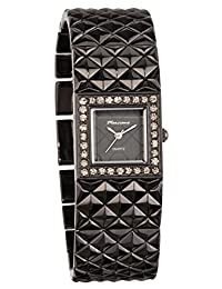 Marciano Women's Watch | Gunmetal Textured Bracelet Watch With Rhinestone Accented Bezel | FC0163