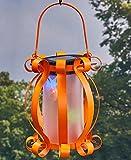 Colorful Solar Scroll Lantern Orange