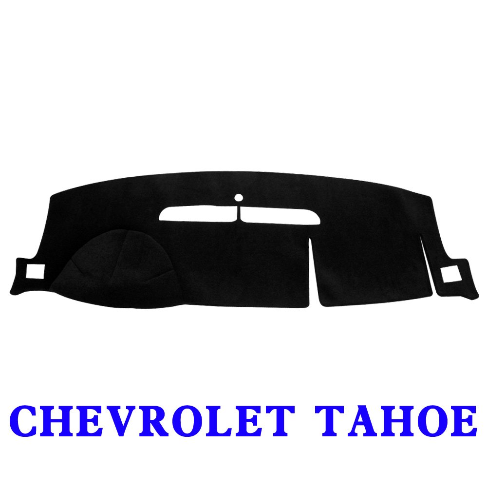 JIAKANUO Auto Car Dashboard Dash Board Cover Mat Fit Chevy Chevrolet Tahoe 2007-2013(Tahoe 07-13, Black)