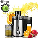 Electric Juicer 65mm Wide Mouth Juice Extractor 350 Watt Centrifugal Juicer Powerful Fruit Machine ,2 Speed Setting Stainless Steel Premium Food Grade