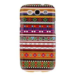 GX Patrón de estilo africano protector duro Volver Funda para el Samsung Galaxy S3 I9300