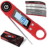 Kizen Instant Read Meat Thermometer - Best Super Fast Talking Digital Thermometer for Food, Kitchen, Cooking BBQ, Grill! 2018 UPGRADED MODEL (Red)