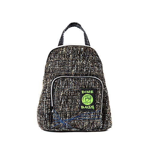 Club Kid Mini Backpack - Knapsack w/Smell Proof Pouch & Secret Pocket (Concrete)